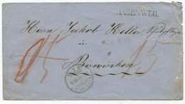 1818 - HAGENWEIL Stabstempel Auf B.o.M. 1870 - Heimat THURGAU - 1854-1862 Helvetia (Ungezähnt)