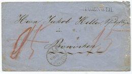 1818 - HAGENWEIL Stabstempel Auf B.o.M. 1870 - Heimat THURGAU - 1854-1862 Helvetia (Non-dentelés)