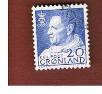 GROENLANDIA (GREENLAND)  - SG 53 -   1963 KING FREDERIK IX  -   USED - Greenland