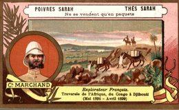 CHROMO  THES SARAH POIVRES SARAH  COMMANDANT MARCHAND EXPLORATEUR FRANCAIS - Thé & Café