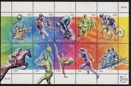 2000 - Australian OLYMPIC GAMES Sports Set 10 Stamps MNH - Blocks & Sheetlets