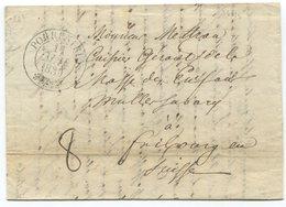 1819 - PORRENTRUY Zierstempel Auf Faltbrief - Schweiz