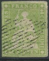 1821 - 40 Rp. STRUBEL Mit Eidgenössischer Raute - 1854-1862 Helvetia (Non-dentelés)