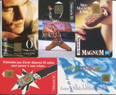 1823 - 5 Frankreich Telefonkarten Mit MOTIVEN - Non Classés