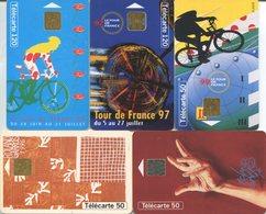 1824 - 5 Frankreich Telefonkarten - SPORTMOTIVE - Sport