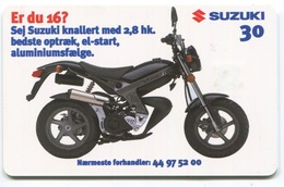 1825 - SUZUKI Motorrad - Dänische Telefonkarte - Motorräder