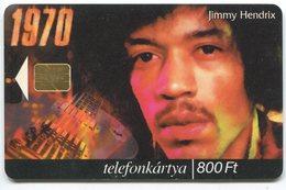 1826 - JIMMY HENDRIX Auf Ungarn Telefonkarte - Motos
