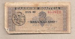 Grecia - Banconota Circolata Da 2 Dracme P-318 - 1941 - Grecia