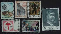 België Belgique 1977 Culturele Uitgifte Série Culturelle 1843-1848 Yv 1837-1842 MNH ** - Belgique