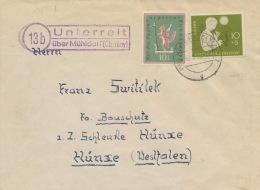 BRD 233,286 Auf Brief Poststellenstempel Unterreit - Briefe U. Dokumente