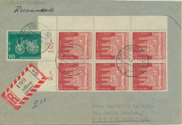 BRD 363,6x366 Auf Auslands-R-Brief - [7] Repubblica Federale