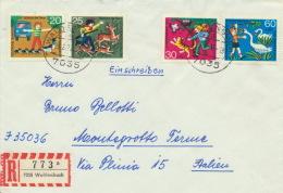 BRD 711/14 Auf Auslands-R-Brief - Briefe U. Dokumente