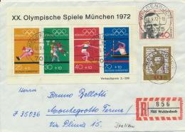 BRD Block 8, 738/39 Auf Auslands-R-Brief - Briefe U. Dokumente