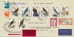 BRD 694,700,2x754/57 + Berlin 368 Auf Auslands-Luftpost-R-Eilbrief - Briefe U. Dokumente