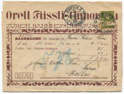 1835 - 13 Rp. TELL Mit ABART Klebestelle Auf Streifband Mit Schöner Jugendstil-Illustration - Rollen