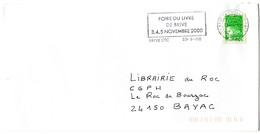 CORREZE - Dépt N° 19 = BRIVE La GAILLARDE 2000 DATEUR DOUBLE CERCLE = FLAMME Codée = SECAP ' FOIRE Du LIVRE' - Postmark Collection (Covers)
