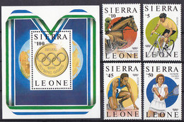 Olympics 1988 - Medal - SIERRA LEONE - S/S+Set MNH - Ete 1988: Séoul
