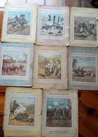 8 Couvertures De Cahiers Années 1900, Usagées - RECITS PATRIOTIQUES SUR LA GUERRE 1870-71 -Garnier Et H.Lebrun éditeurs - Café & Thé