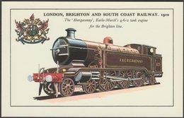 London, Brighton And South Coast Railway 4-6-2 Tank Engine 'Abergavenny' - Colourmaster Postcard - Trains
