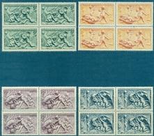 FRANCE N° 859 / 862 Nxx En Blocs De 4 TB Cote :52 € . - Unused Stamps
