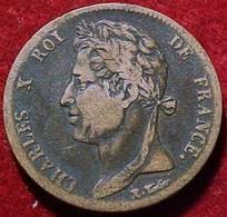 MONNAIE ROI CHARLES X  5 CENTIMES 1830 A . Colonies Francaises FRAPPE / LA GUYANE & SENEGAL 5 CENT FRENCH COLONIAL COIN - C. 5 Centesimi