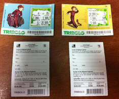 BD SPIROU ET FANTAZIO 2 BILLETS TICKETS DE TRIBOLO DE LA LOTERIE SUISSE DE 2011 EN BON ÉTAT - Billets De Loterie