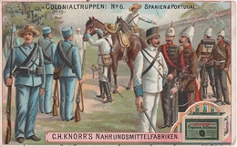 Sammelbild Knorr 's Colonialtruppen Kolonialtruppen No 6 Spanien Portugal Kolonie Colonia - Kaufmanns- Und Zigarettenbilder