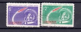 1961 Mi-166/167 Space -Yuri Gagarin  2v.-used/oblitere (O) North Vietnam - Space