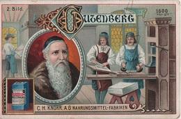 Sammelbild Knorr 's Johann Gutenberg Um 1600 Bild No 2 Druckpresse Aus Holz Buchdruck - Kaufmanns- Und Zigarettenbilder