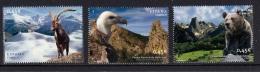 4.- SPAIN ESPAGNE 2010 NATURAL PARKS - BEAR - VULTURE - MOUNTAIN GOAT - 1931-Oggi: 2. Rep. - ... Juan Carlos I