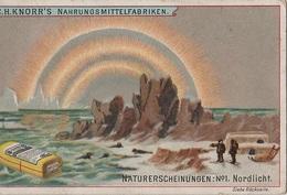 Sammelbild Knorr 's Naturerscheinungen No 1 Nordlicht Aurore Boréale Northern Lights - Kaufmanns- Und Zigarettenbilder