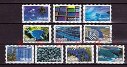 FRANCE 2007:   VACANCES BLEUES : SERIE COMPLETE - Used Stamps