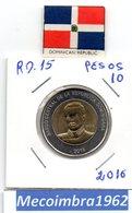 [*RD. 15*] - 10 Pesos 2016 Republica Dominicana - Mella - Dominicana