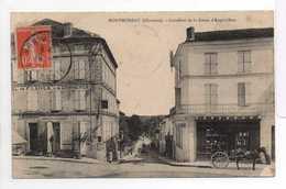 - CPA MONTMOREAU (16) - Carrefour De La Route D'Angoulême 1911 (HOTEL DE FRANCE ET DU COMMERCE) - - Autres Communes