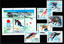 Olympics 1972 - Ice Hockey - RAK - S/S+Set Perf. Ovp MNH - Hiver 1972: Sapporo