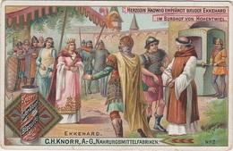 Sammelbild Knorr 's Ekkehard Bild No 2 Herzogin Hadwig Empfängt Bruder Ekkehard Im Burghof Von Hohentwiel - Kaufmanns- Und Zigarettenbilder