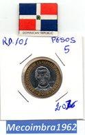 [*RD. 101*] - 5 Pesos 2016 Republica Dominicana - Sanchez - Dominicana