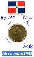 [*RD. 100*] - 1 Peso 2016 Republica Dominicana - Duarte - Dominicana