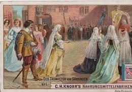 Sammelbild Knorr 's Der Trompeter Von Säkkingen Bild No 1 Werner Kirchhof Margaretha Schwarzwald - Kaufmanns- Und Zigarettenbilder