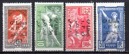 Col9  Grand Liban :  N° 45 à 48  Neuf  X MH   , Cote : 160,00 Euro - Great Lebanon (1924-1945)