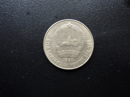 MONGOLIE : 15 MONGO   1980   KM 31   SUP - Mongolie