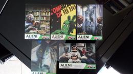 ALIEN UFO OVNI Exibition Lot De 5 Cartes Postales - Advertising