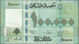 Lebanon 100000 Livres, 2011, Pick 95, UNC - Liban