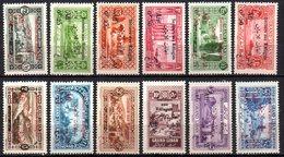 Col9  Grand Liban :  N° 63 à 74 Dont 66a Variete Neuf  X MH  , Cote : 186,00 Euro - Great Lebanon (1924-1945)