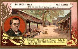 CHROMO THES SARAH POIVRES SARAH  J. BOISSIERE FRANCAIS RESIDENT AU TONKIN... - Tee & Kaffee