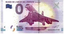 Billet Touristique 0 €  2017 Musée De L'air Le Bourget  Concorde Uegu 2017-1 - Concorde