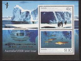 1990 - Australian USSR Joint Issue Minisheet Miniature Sheet MNH Overprint NZ 1990 - Blocks & Sheetlets