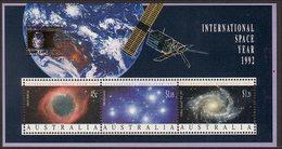 1992 - Australian INTERNATIONAL SPACE YEAR Minisheet Miniature Sheet MNH Overprint COLUMBIAN - Blocks & Sheetlets
