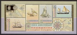 1992 - Australian AUSTRALIA DAY COLUMBUS Minisheet Miniature Sheet MNH Overprint COLUMBIAN - Blocks & Sheetlets