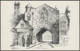 St Ann's Gate From The Close, Salisbury, Wiltshire, 1904 - R R Edwards Postcard - Salisbury